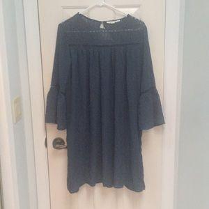 Francesca's bell sleeve shift dress